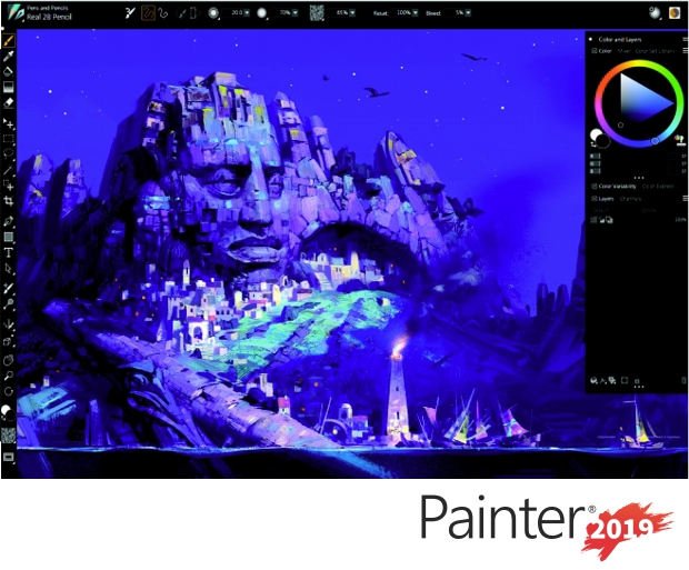 Captura de pantalla de Corel PAINTER 2019