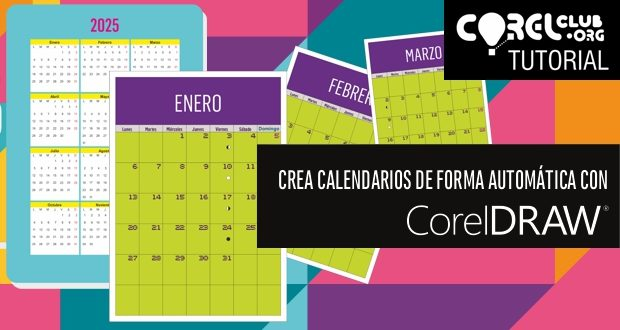 Calendario Enero 2020 Con Festivos Colombia.Tutorial Coreldraw Creacion De Un Calendario De Forma