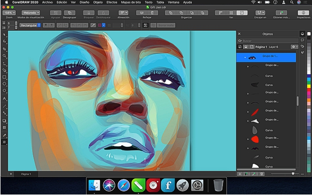 Captura pantalla CorelDRAW 2020 Mac