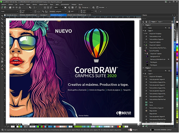 Captura de pantalla CorelDRAW 2020