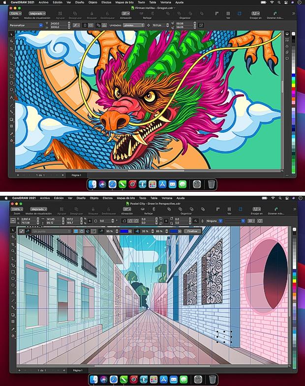 Capturas de pantalla CorelDRAW para Mac