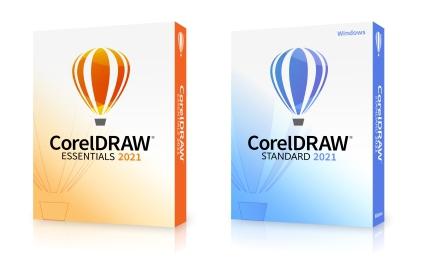 Cajas CorelDRAW Essentials y Standard 2021