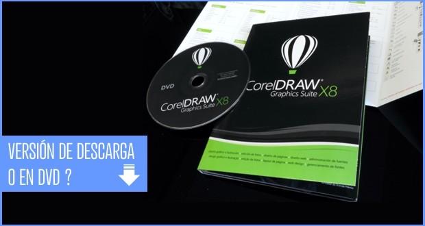 Descarga de CorelDRAW o en DVD