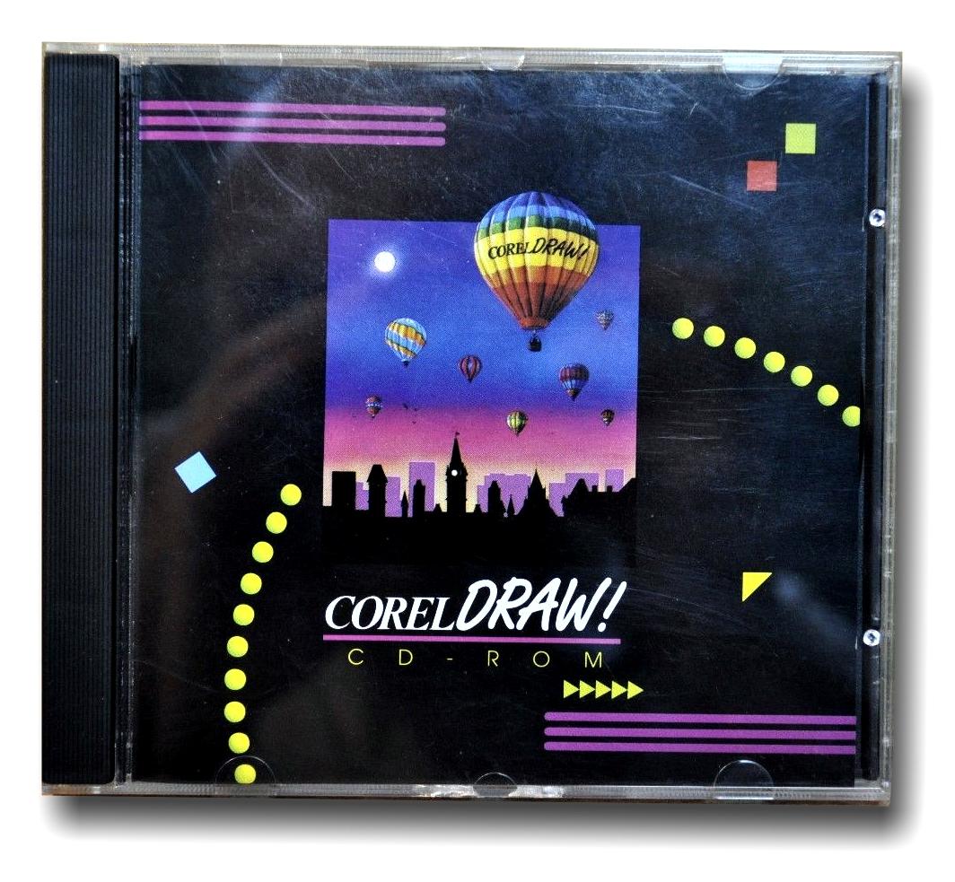 La caja con el CD-ROM de CorelDRAW 3.0