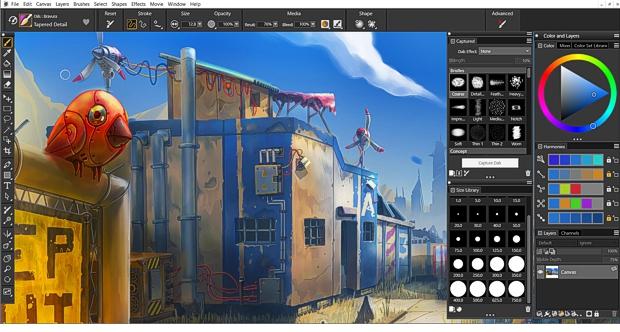 Captura de pantalla de Painter 2022