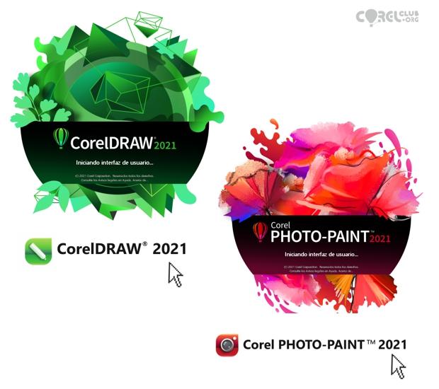 Splash screen de CorelDRAW y Photo-PAINT 2021
