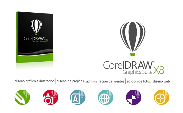CorelDRAW X8 Suite de Gráficos y sus iconos