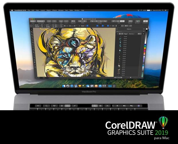 CorelDRAW en MacBook Pro