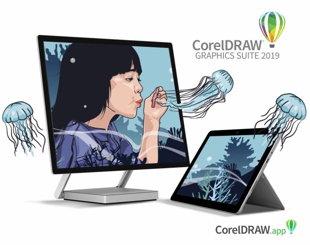 CorelDRAW 2019 + CorelDRAW app