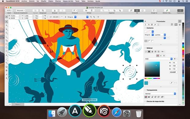 Captura de pantalla de CorelDRAW para Mac