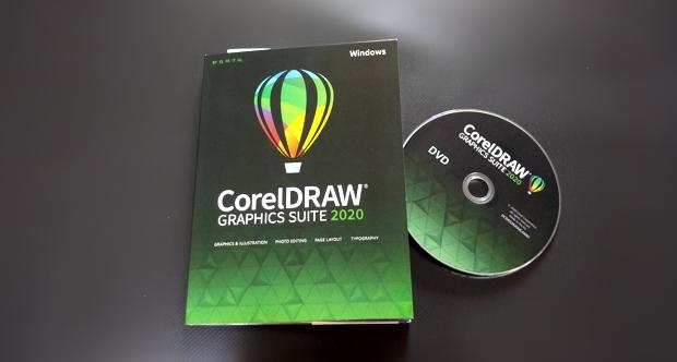 La versión en caja / DVD de CorelDRAW 2020