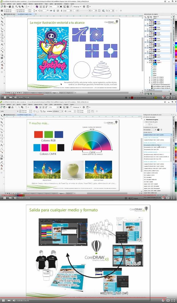 Presentación CorelDRAW X8