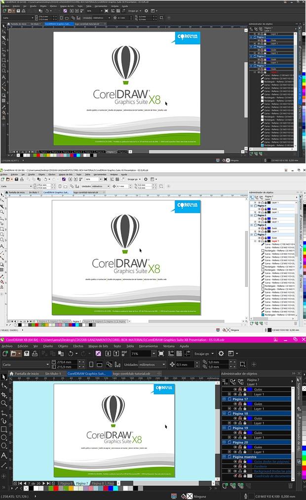 En CorelDRAW X8 puedes personalizar la interfaz