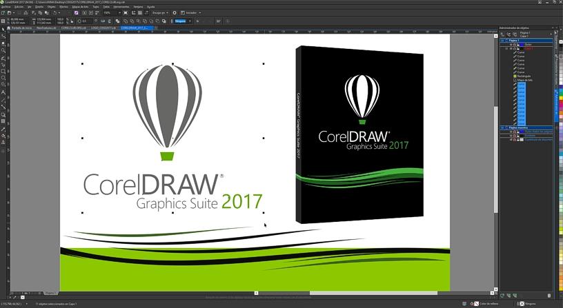 Captura de pantalla de CorelDRAW 2017