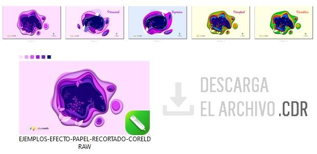 Descarga el archivo con los ejemplos del efecto aplicado en CorelDRAW