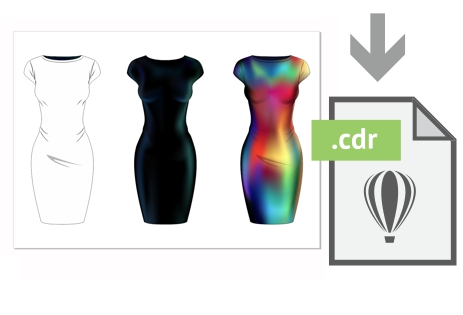 Descarga gratis el archivo con el vestido tubo del ejemplo