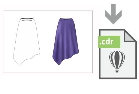 Descarga gratis el archivo con la falda del ejemplo
