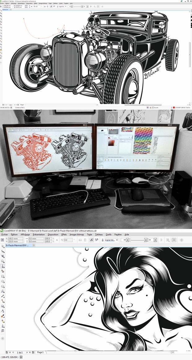 Workspace - espacio de trabajo del ilustrador David Vicente