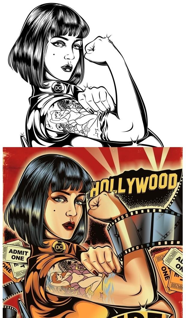 Ilustración de David Vicente creada en CorelDRAW