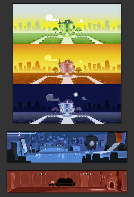 Escenarios creados en CorelDRAW