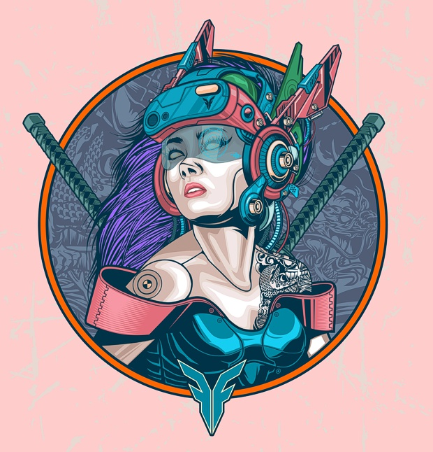 Samurai girl por Firman Hatibu