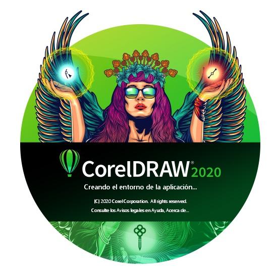 Ilustración de Firman Hatibu en la pantalla de inicio de CorelDRAW 2020
