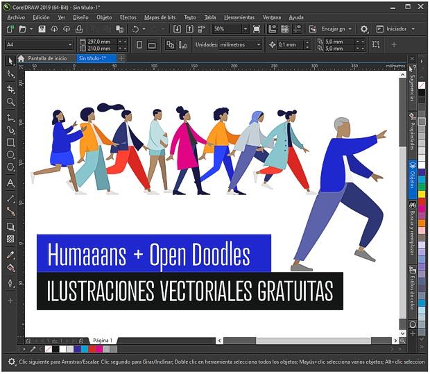 Ilustraciones vectoriales gratuitas de HUMANOS
