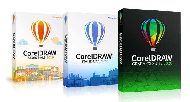 Las tres versiones de CorelDRAW 2020