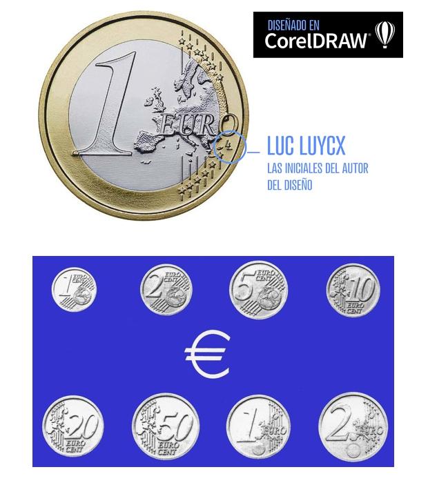 Diseño de la moneda de Euro en CorelDRAW