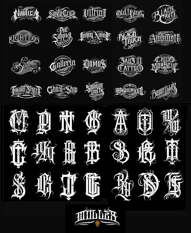 Ejemplos de logos y monogramas creados por Muller Letter