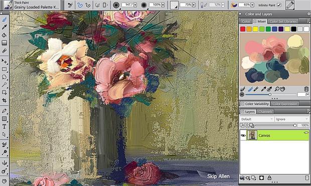 Caputra de pantalla de Painter 2018