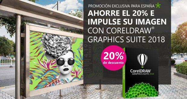 Promoción de descuento para la compra de CorelDRAW 2018