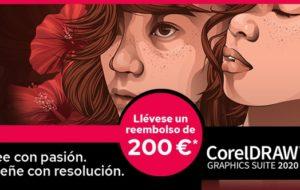 Promoción reembolso de 200 Euros al comprar CorelDRAW 2020