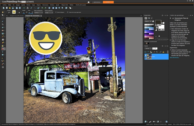 Captura de pantalla de PaintShop Pro 2019