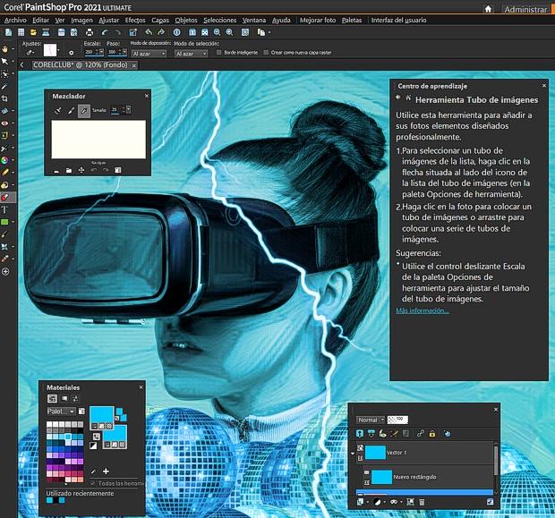 Captura de pantalla de Corel PaintShop PRO 2021 en español