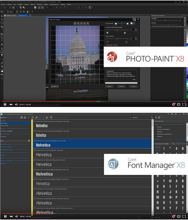 Corel PHOTO-PAINT X8 y Corel FONT MANAGER X8