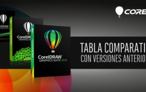 Tabla comparativa versiones de CorelDRAW