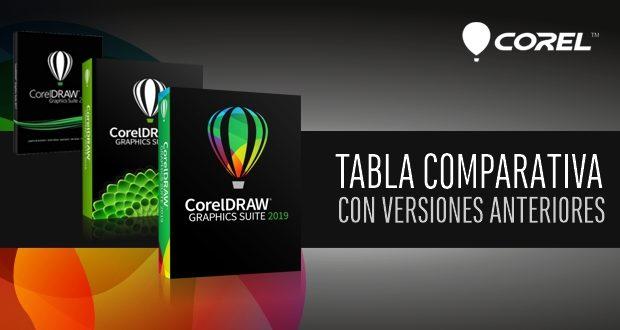 Tabla comparativa versiones de CorelDRAW