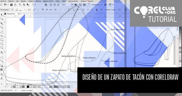 Diseño de un zapato de tacón con CorelDRAW
