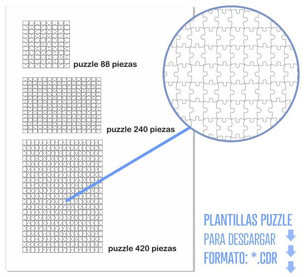 Plantillas vectoriales puzzle en formato CDR
