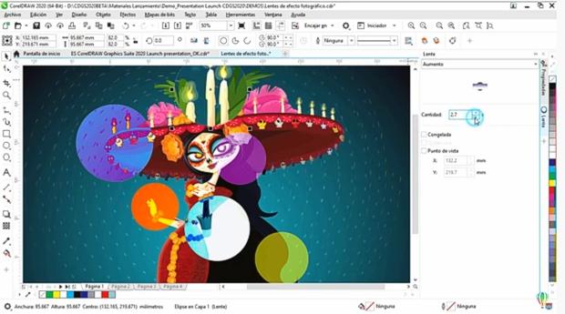 Fotograma del vídeo de presentación de CorelDRAW 2020