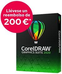 Reembolso de 200 Euros al comprar CorelDRAW 2020