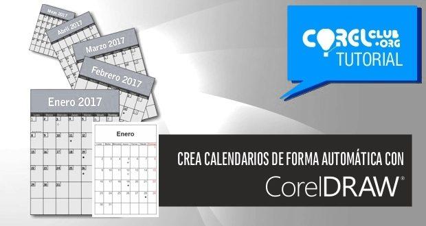 Crea calendarios en CorelDRAW de forma automática
