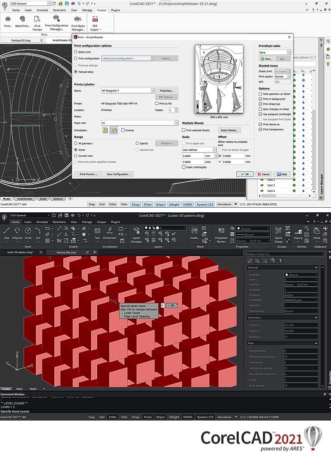 Capturas de pantalla de Corel CAD 2021