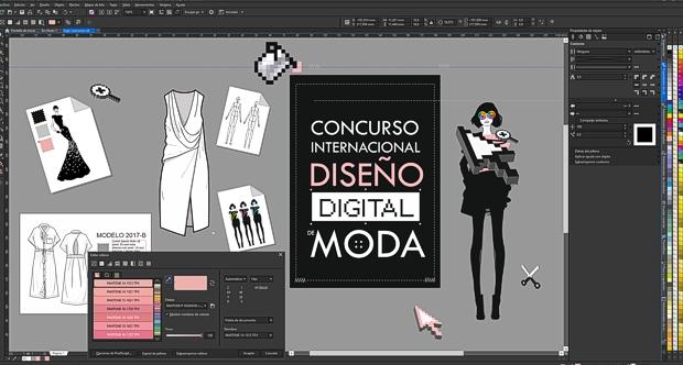 CONCURSO INTERNACIONAL DE DISEÑO DE MODA con CorelDRAW