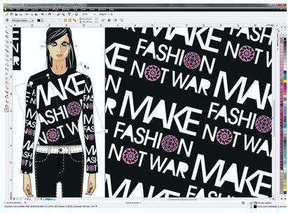 diseño de moda por ordenador- diseño de moda con coreldraw