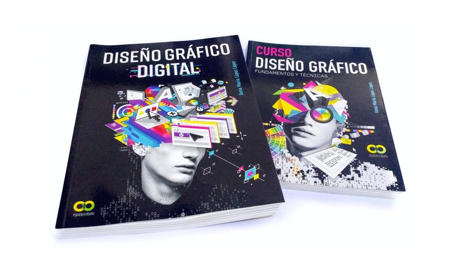 Los libros DISEÑO GRAFICO DIGITAL y CURSO DISEÑO GRAFICO