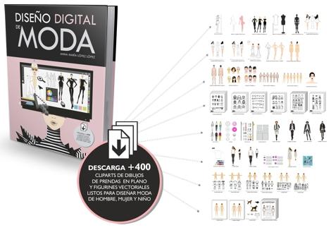 Plantillas de figurines vectoriales y cliparts para diseñar moda con CorelDRAW