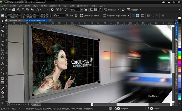 Captura de pantalla CorelDRAW 2018