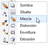 La herramienta Mezcla Interactiva de CorelDRAW